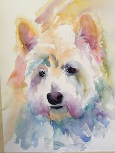 Westie - West Highland White Terrier Custom Pet Portrait Painting Variety of Styles, Sizes and materials available by AnnetteBennett on Etsy♥♥ West Highland Terrier, Watercolor Animals, Watercolor Paintings, Watercolors, Watercolor Portraits, Dog Portraits, Westies, Pet Memorials, Animal Paintings