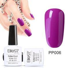Elite99 10ML Gel Nail Purple Colors Fashion UV Gel Nail Polish Soak Off Vernish Semi Permanent LED Nail Polish Lacquer Gelpolish