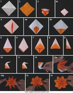 Paper origami flower kreatv pinte mightylinksfo