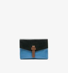 MULTICOLOURED EMBOSSED LEATHER CLUTCH WITH A FRONT DETAIL