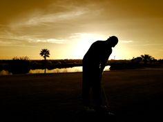 Atardecer en el hoyo 4 de Villanueva Golf