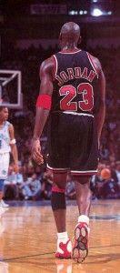 Michael Jordan wearing Air Jordan 13