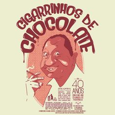 Camiseta 'Cigarrinhos de Chocolate'. cami.st/p/1685