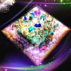 I definitely played around editing this pic of my new Heart Chakra Pyramids, but this is how the energy of these new beauties feels to me 🔮 pure magic 💜