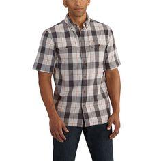 102533 Carhartt Men's Fort Plaid Short Sleeve Shirt