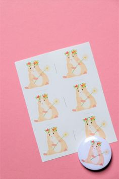 Guinea pig set-stickers and pin, guinea pig, guinea pig gift, guinea pigs Sticker Paper, Stickers, Cute Guinea Pigs, Things To Come, Gifts, Presents, Sticker, Gifs, Decal