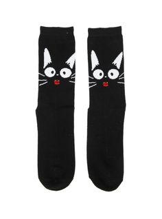 Studio Ghibli Kiki's Delivery Service Jiji Crew Socks   Hot Topic