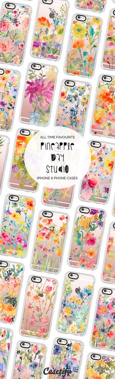 All time favourite floral iPhone 6 protective phone case designs by Pineapple Bay Studio | Click through to see more iphone phone case ideas >>> https://www.casetify.com/pineapplebaystudio/collection | @casetify