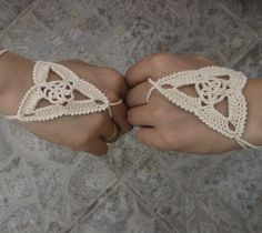 crochet slave bracelets | Crochet patterns Lace glove, wedding sexy steampunk gloves, 100% ...