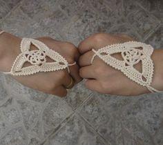 crochet slave bracelets | Crochet patterns Lace glove, wedding sexy steampunk gloves, 100% ...