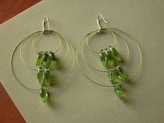 green leaf earrings by birds & trees, via Flickr