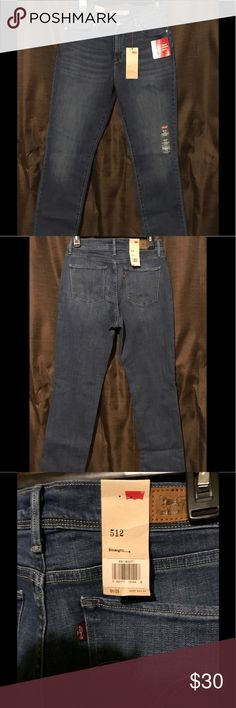 NWT Levi's 512 NWT Levi's 512, Perfectly Slimming Straight Jeans. Just gotta love a classic fit! This is my personal favorite fit, great for summer to cuff with a good pair of Birkenstocks. Levi's Jeans Straight Leg