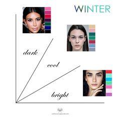 Palette Hair Color, Cool Winter Color Palette, Deep Winter Colors, Clear Winter, Dark Winter, Cool Skin Tone, Dark Skin Tone, Paleta Deep Winter, Color Combinations For Clothes