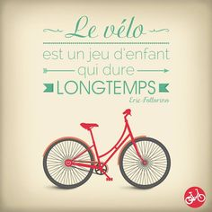 le sport déstresse et bon pour le métabolisme en général. Velo Biking, French Basics, Bicycle Illustration, Happy Jar, Motivational Quotes, Funny Quotes, French Quotes, French Sayings, Bicycle Print