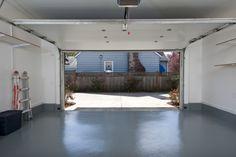 garage door open scenery inside Garage Door Repair, Garage Door Opener, Overhead Garage Door, Garage Doors, Garage Signs, Garage Beton, Best Garage Floor Paint, Garage Paint, Garage Floor Coatings