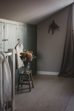 Attic Wardrobe, Red Cottage, Garage Apartments, Home Again, Konmari, Sloped Ceiling, Perfect Place, Master Bedroom, Loft