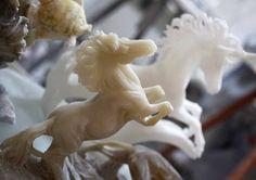 a alabaster workshop in Volterra
