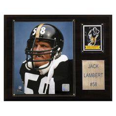 NFL 12 x 15 in. Jack Lambert Pittsburgh Steelers Player Plaque - 1215LAMBERT