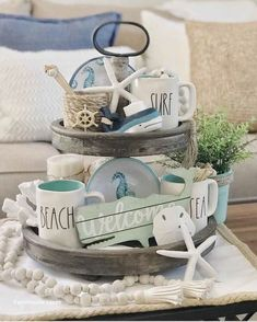 Marvelous Summer Decoration Ideas For Inspiration 10 - Home Design Ideas 2020 Beach Cottage Style, Beach Cottage Decor, Coastal Style, Beach Kitchen Decor, Nautical Style, Cozy Cottage, Coastal Cottage, Diy Home Decor Rustic, Coastal Decor