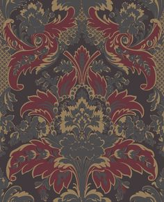 Cole & Son Aldwych Red / Gold Wallpaper main image