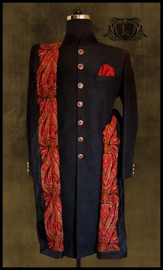 Traditional Wear Embroidered Stole Handmade Button Sherwani Threadwork Kurta Dupatta Ethnic Pocketsquare Mensfashion Designer Wear Designermenswear Designermade Bandhgalas Indowestern Mens Style Dapper Weddingwear Bespoke Custommade Tailormade Handmade Classy Indianmenswear Festivelook Groomwear Fall 201718 Groom Wedding Dress, Groom Dress, Wedding Suits, Wedding Attire, Wedding Men, Farm Wedding, Wedding Couples, Boho Wedding, Wedding Reception