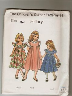 The Childrens Corner Pattern 98 Hillary by stephaniesyarn on Etsy, $5.00