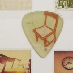 my old chair!guitar pick
