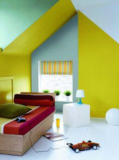 Yellow neon room