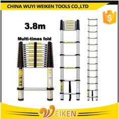 wuyi 13 step 3.8m aluminum/aluminium telescopic ladder Aluminium Ladder, Telescope, Techno, Scale, Houses, Weighing Scale, Balance Sheet, Telescope Craft, Weight Scale