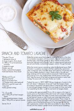Les meilleures lasagnes épinard tomate...y a plus qu'à rajouter tout les autres légumes que l'on veut.
