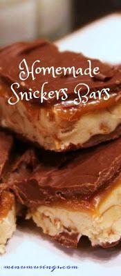 Homemade Snickers Bars - #snickers #foodhacks #stepbystep #kidfriendly #dessert #partyfood  #menumusing #chocolate