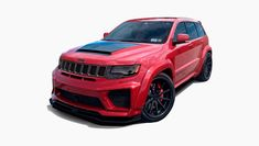 Body kits for Jeep GC Trackhawk | Renegade Design Jeep Srt8, Wide Body Kits, Ground Effects, Best Suv, Liberty Walk, White Teeth, Baby Car, Dream Cars, Pure Products