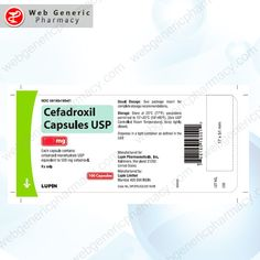 Cefadroxil 500mg 1 Pharmacy, Drugs, Apothecary
