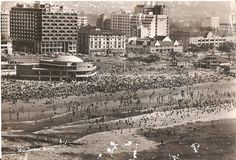 South Beach, with Lido in the foreground, DURBAN Margate South Africa, News South Africa, Durban South Africa, Kwazulu Natal, Sun City, African History, South Beach, Old Pictures, Live