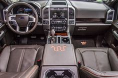 This is where you want to be! Behind the wheel of a 2015 Ford F150 King Ranch. #F150 #KingRanch