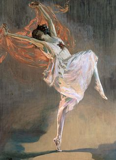 Anna Pavlova 1911, by John Lavery, oil on canvas