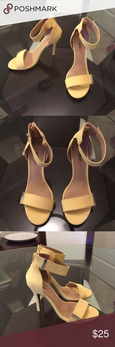 Spotted while shopping on Poshmark: Canary yellow open heels gorgeous.! #poshmark #fashion #shopping #style #Shoes