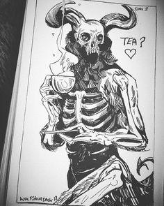 Ideas For Funny Art Sketches Arte Horror, Horror Art, Horror Drawing, Character Art, Character Design, Art Et Illustration, Dark Art Illustrations, Creepy Art, Drawing Reference