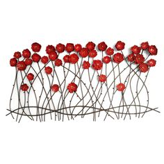 CONTEMPORARY u0027POPPIES AND FENCEu0027 METAL WALL ART | Muur keramiek | Pinterest | Metal wall art Metal walls and Fences  sc 1 st  Pinterest & CONTEMPORARY u0027POPPIES AND FENCEu0027 METAL WALL ART | Muur keramiek ...