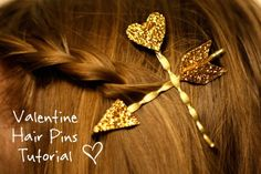 DIY Valentine's Day Gift: Cupid's Arrow Hair Pins
