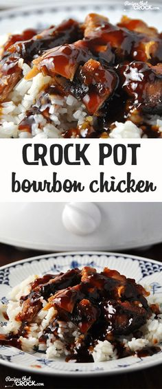 This Crock Pot Bourbon Chicken is easy and delicious!