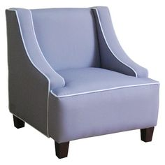 Kids Upholstered Swoop Arm Chair - Gray