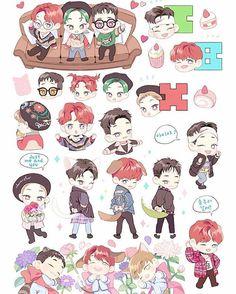 CBX  #exo #chenbaekxi #CBX #cbxfanart #fanart #exofanart Baekhyun Fanart, Kpop Fanart, Exo Cartoon, Exo Stickers, Exo Fan Art, Collage Making, Kawaii Chibi, Kpop Exo, Fanarts Anime