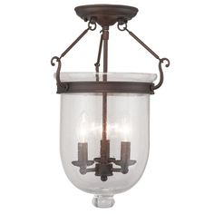 Buy the Livex Lighting Imperial Bronze Direct. Shop for the Livex Lighting Imperial Bronze Jefferson 3 Light Semi-Flush Ceiling Fixture and save. Livex Lighting, Flush Mount Lighting, Pendant Lighting, Semi Flush Ceiling Lights, Candelabra Bulbs, Ceiling Fixtures, Light Fixtures, Bronze Finish, Glass Shades