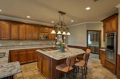 Exotic Granite Counter tops and SS Appliances