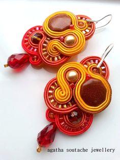 Handmade soutache earrings by Soutachewithpassion on Etsy Soutache Earrings, Jewellery, Handmade, Etsy, Hand Made, Jewels, Jewelry Shop, Jewerly, Craft