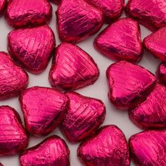 One Eyed Cat Ltd - Cerise Foil Wrapped Chocolate Hearts (Pk 100), £15.00 (http://www.oneeyedcat.com/foil-wrapped-chocolate-hearts-cerise-pk-100/)
