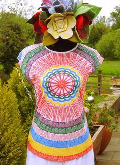 ♥  FAB NEW FLOWER BOMB T SHIRT TOP UK SIZE 8 10 FESTIVAL DREADS TIE DYE HIPPIE