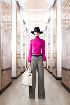Hat, Pants & Hot Pink Turtle Neck....this is my style!
