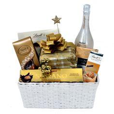 Merry Christmas - Cos Cadou Elegant cu Spumant Schlumberger Lindor, Cos, Picnic, Merry Christmas, Basket, Elegant, Merry Little Christmas, Classy, Picnics